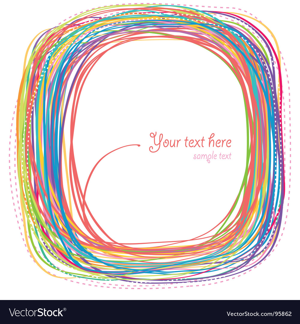 Rainbow curves vector