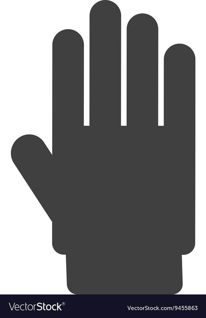 Hand stop isolated icon design vector