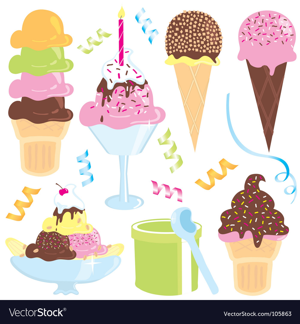 Ice cream party vector