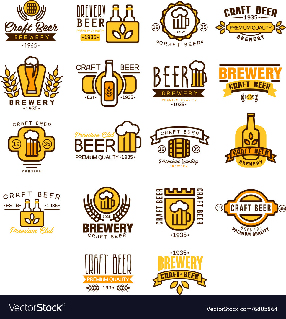 Label of beer badge vector