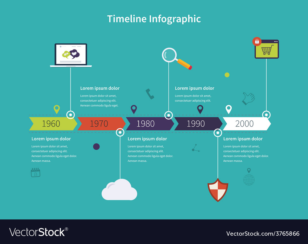 Timeline infographic business vector