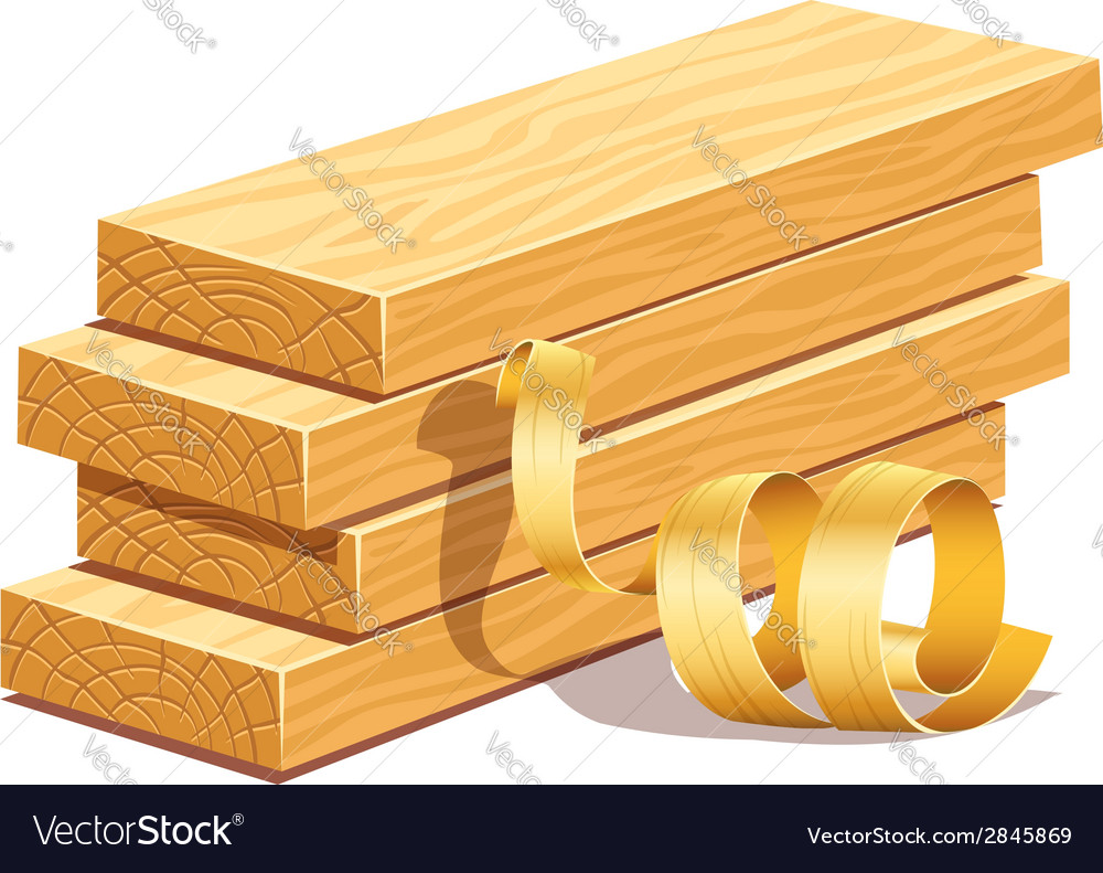 Rasped wooden boards and vector
