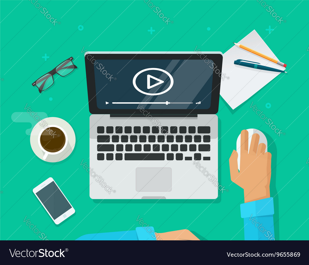 Webinar concept online training education on vector