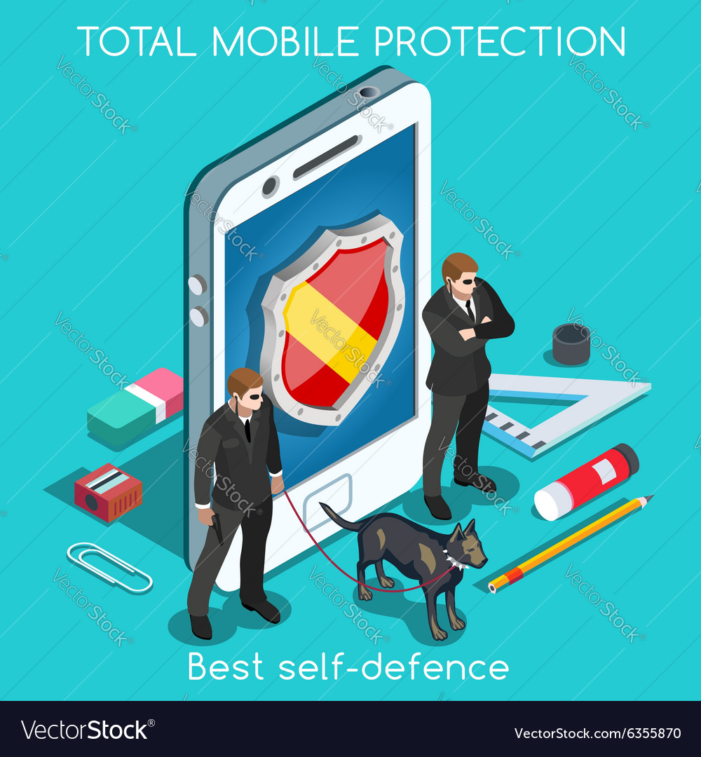 Security app 01 concept isometric vector