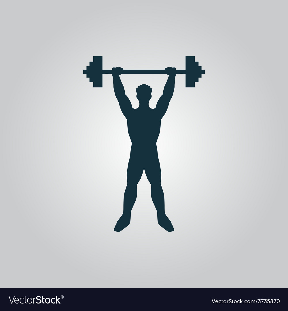 Strong man icon of fitness vector