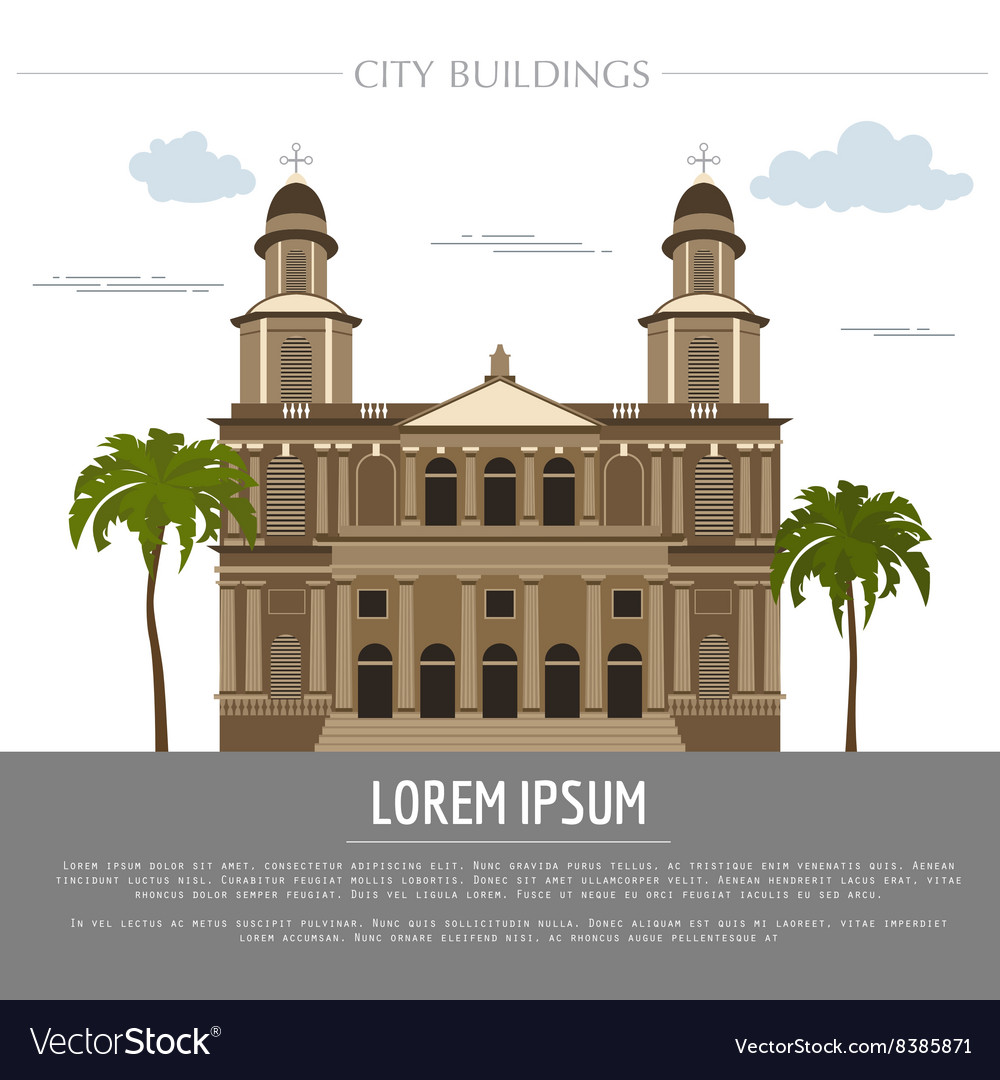 City buildings graphic template nicaragua vector