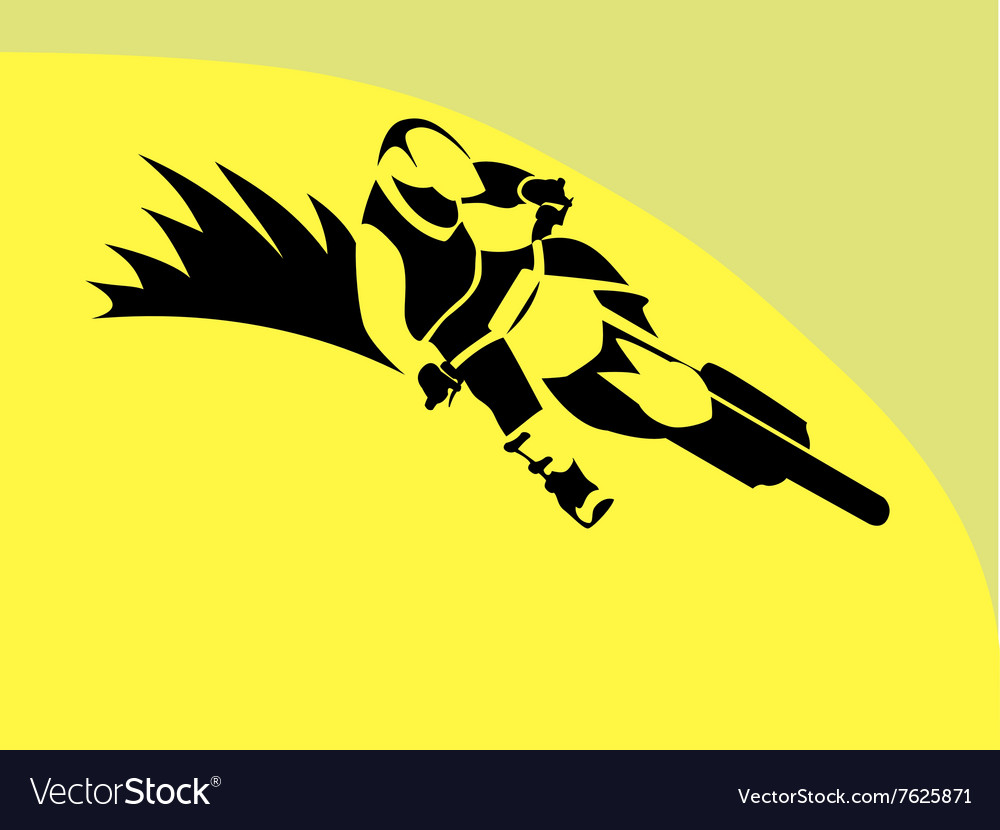 Motorcycle rider sign vector