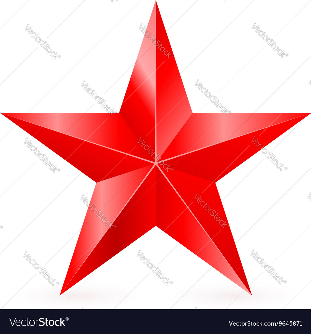 Shiny red star 01 vector