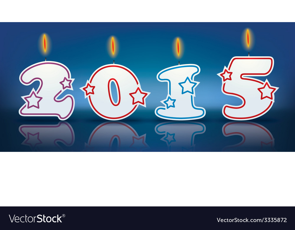 Burning candles 2015 vector