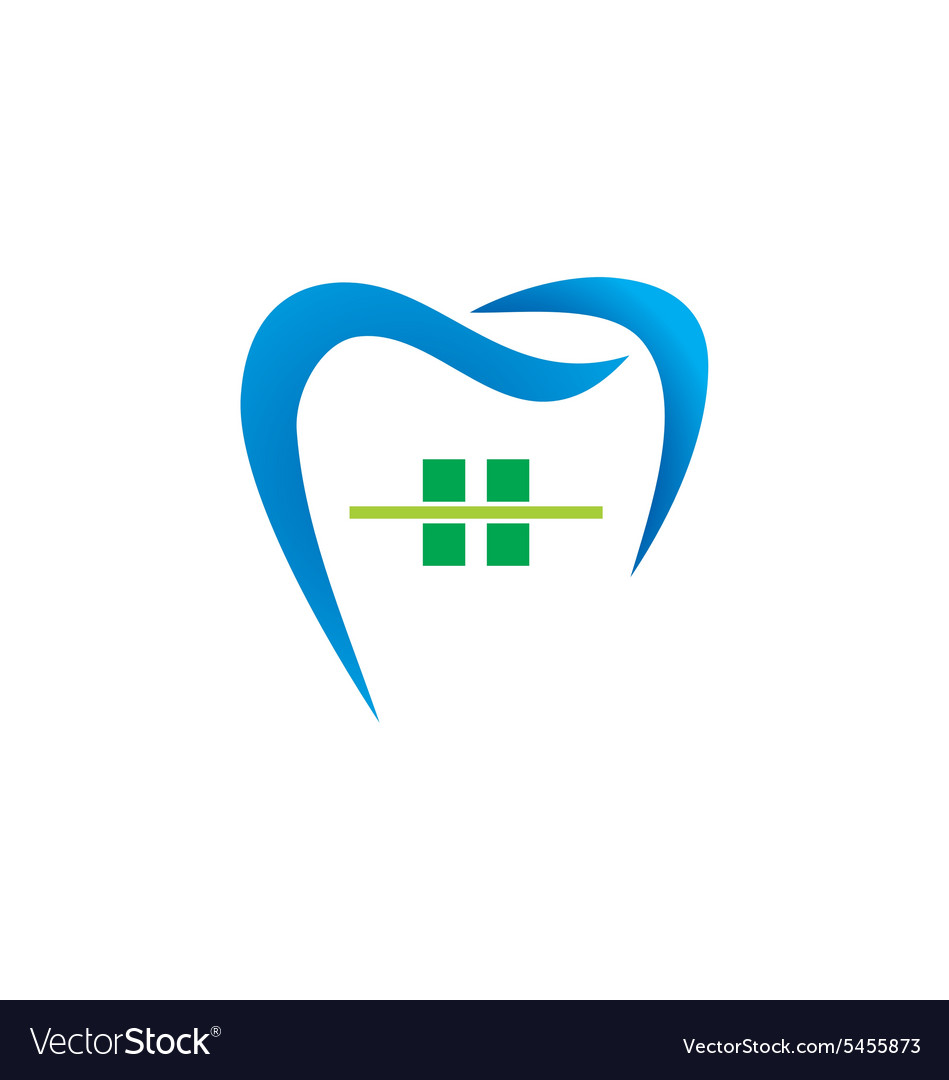 Dentist care abstract logo vector