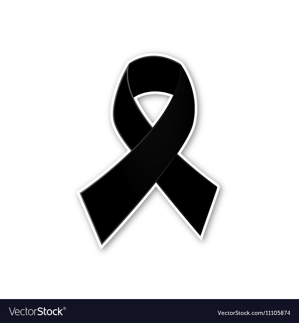 Black ribbon on white background vector