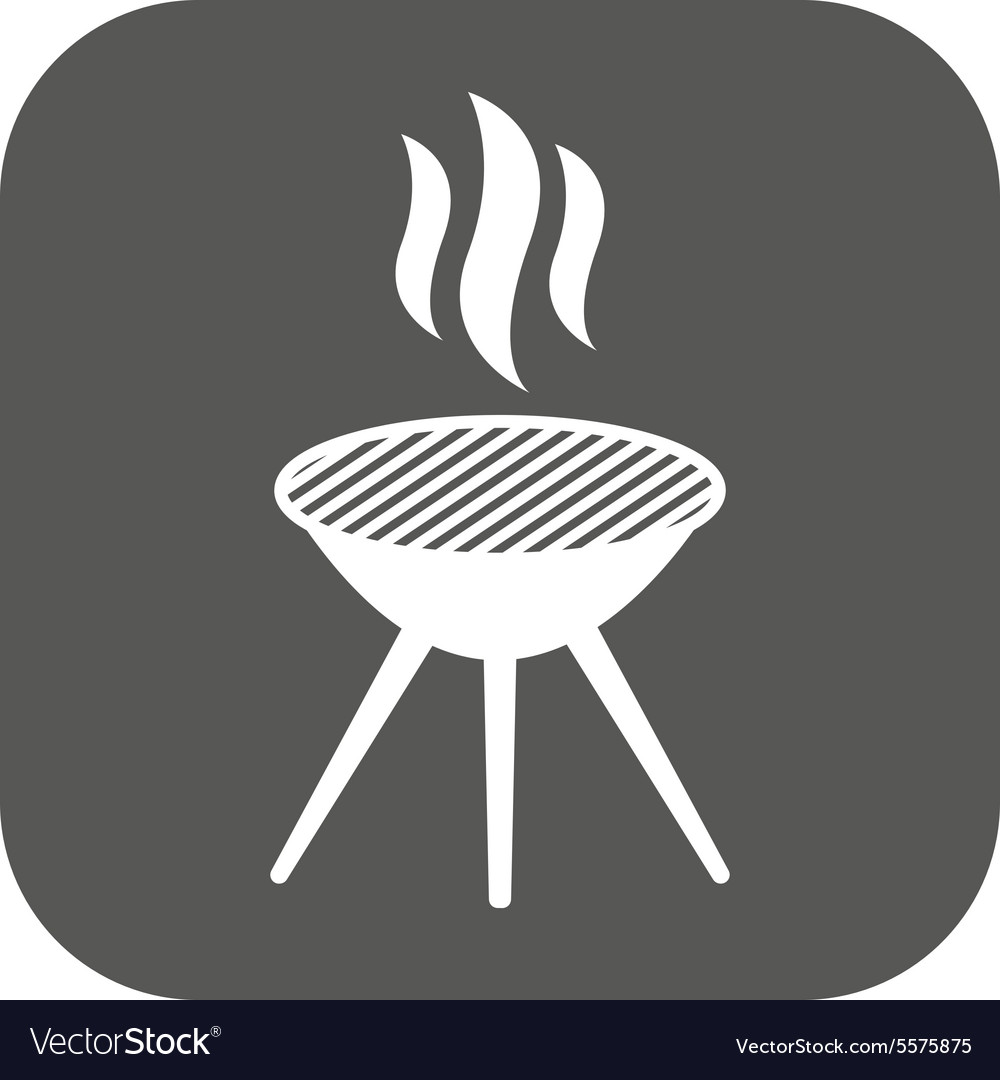 Grill icon barbecue and picnic barbeque vector