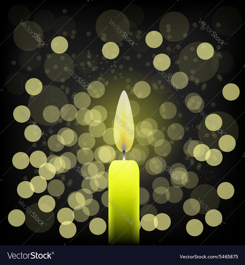 Single candle vector