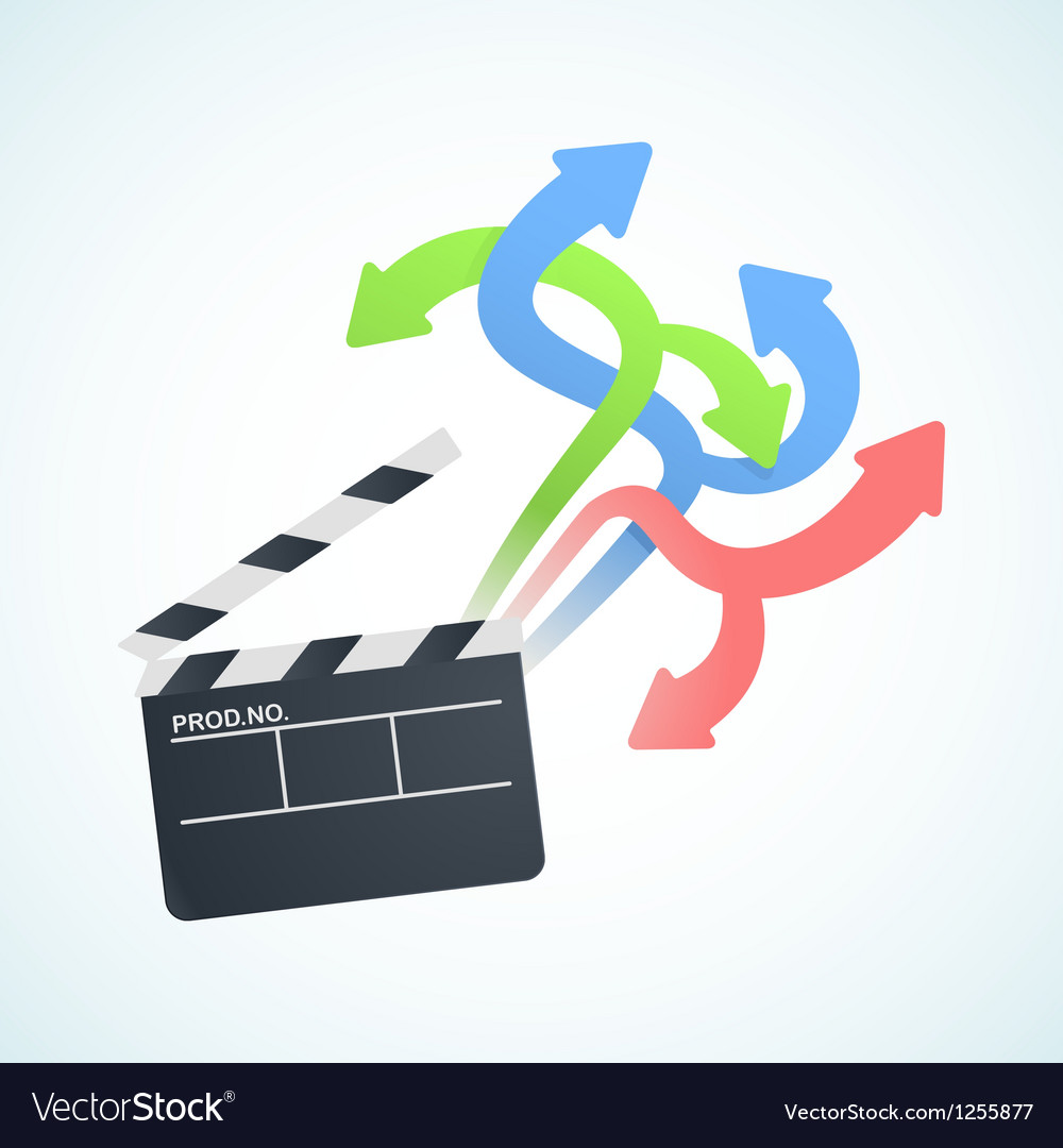 Large selection of movies vector