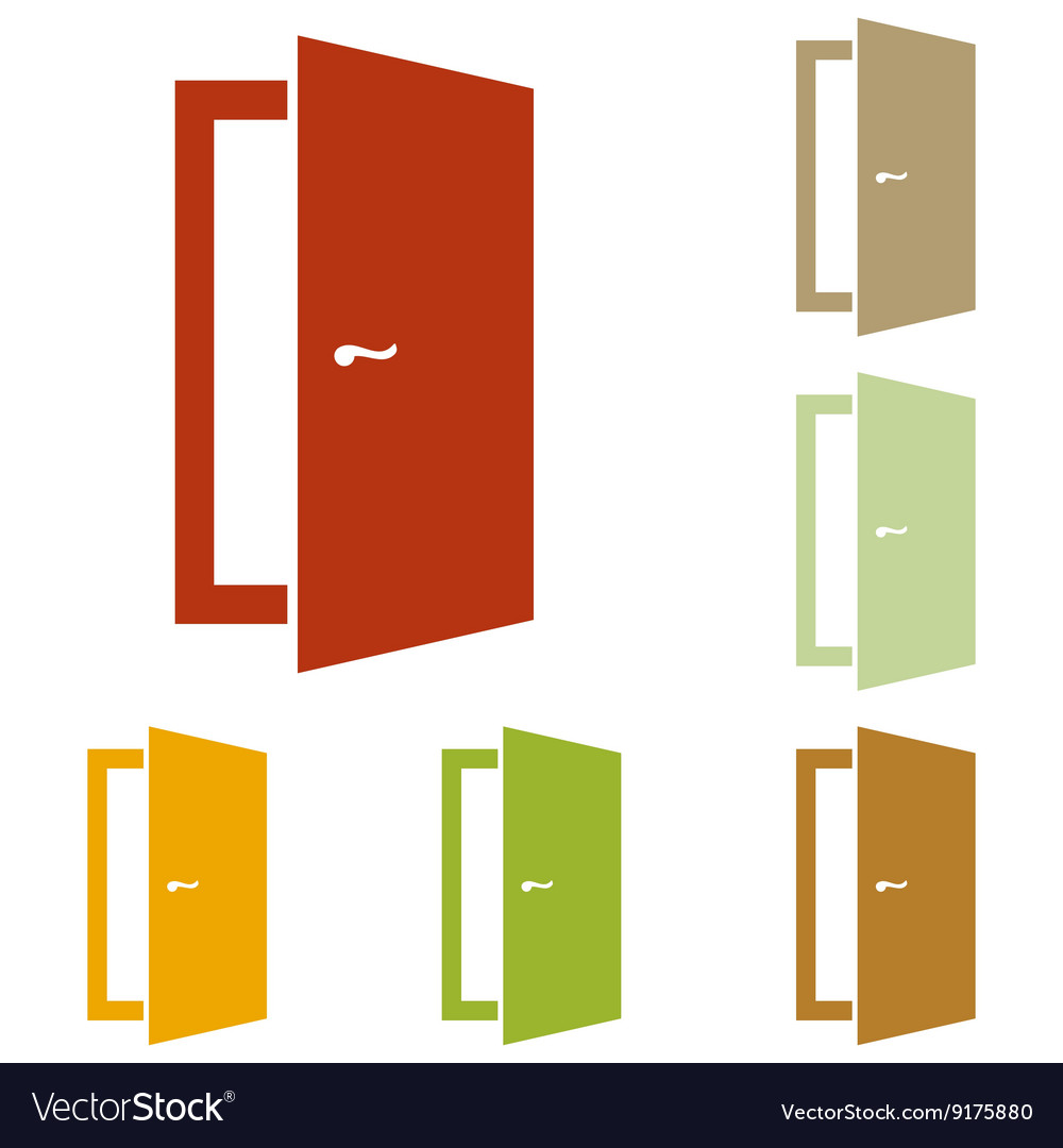 Door sign vector