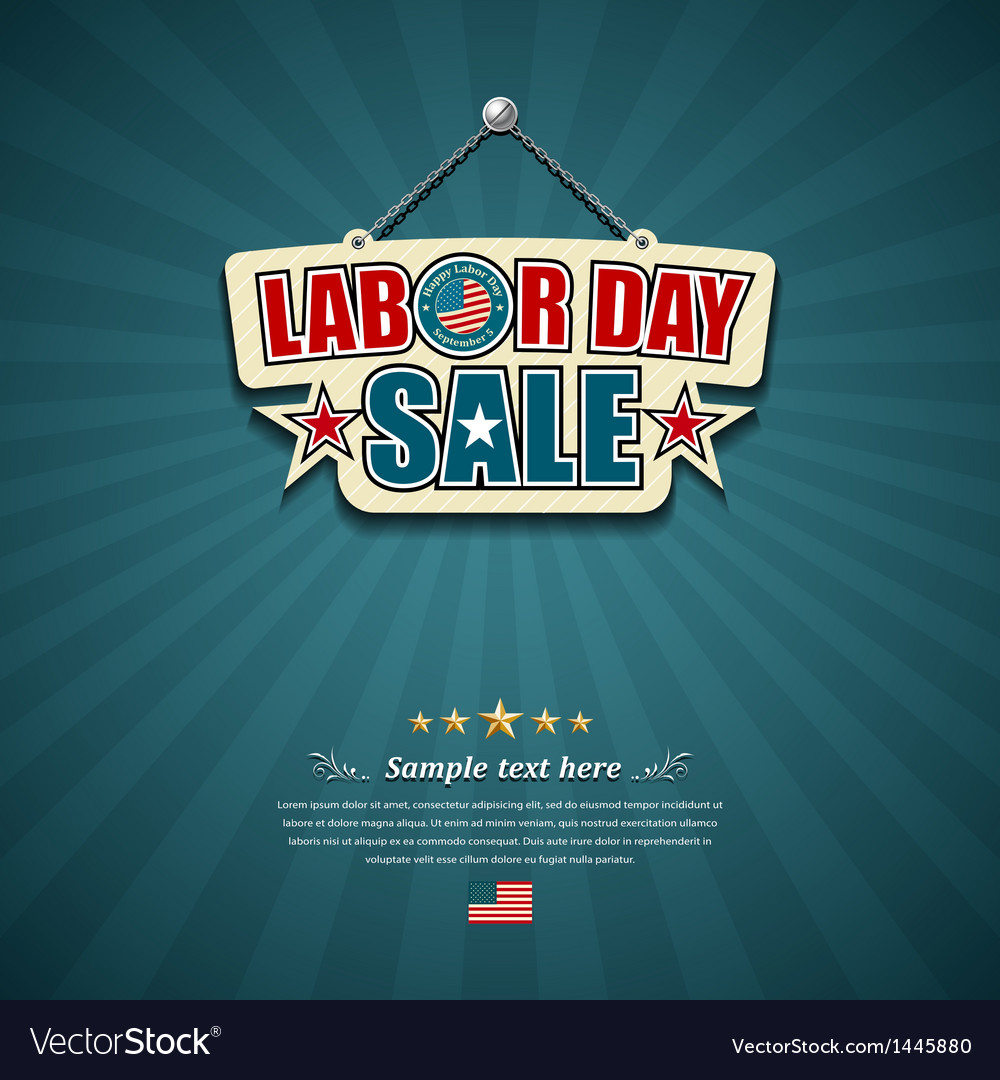Labor day sale american signs vector