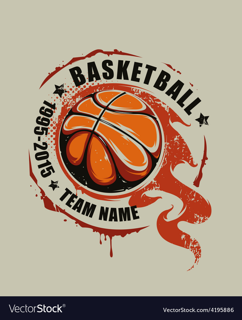 Basketball art vector