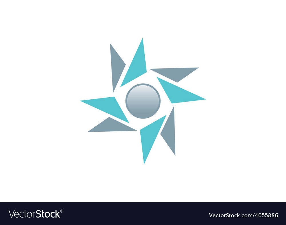 Circle star shape abstract logo vector