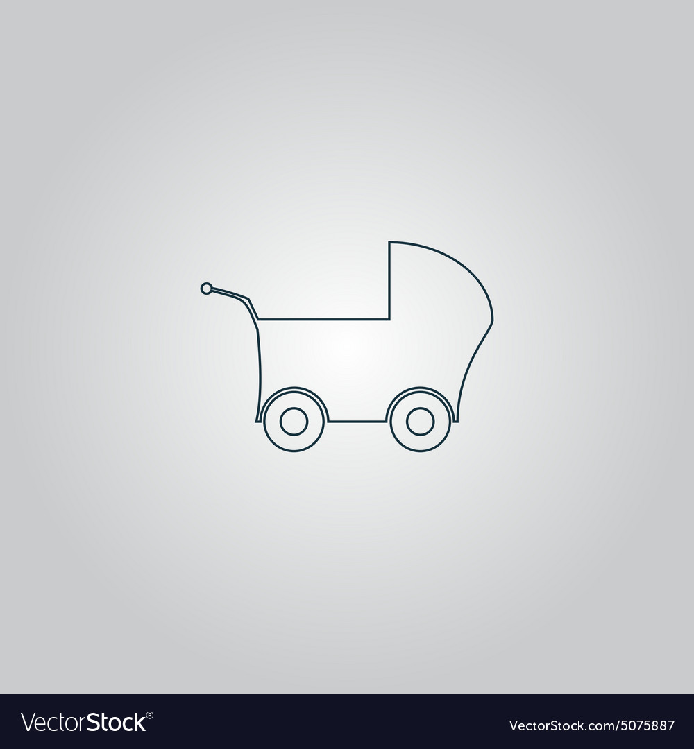 Buggy web icon on a gray background vector