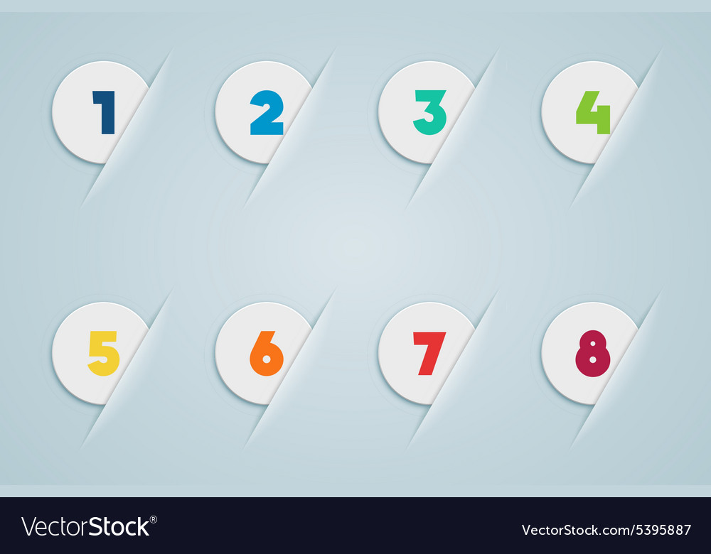 Infographic 3d numbered step bubbles 3 vector