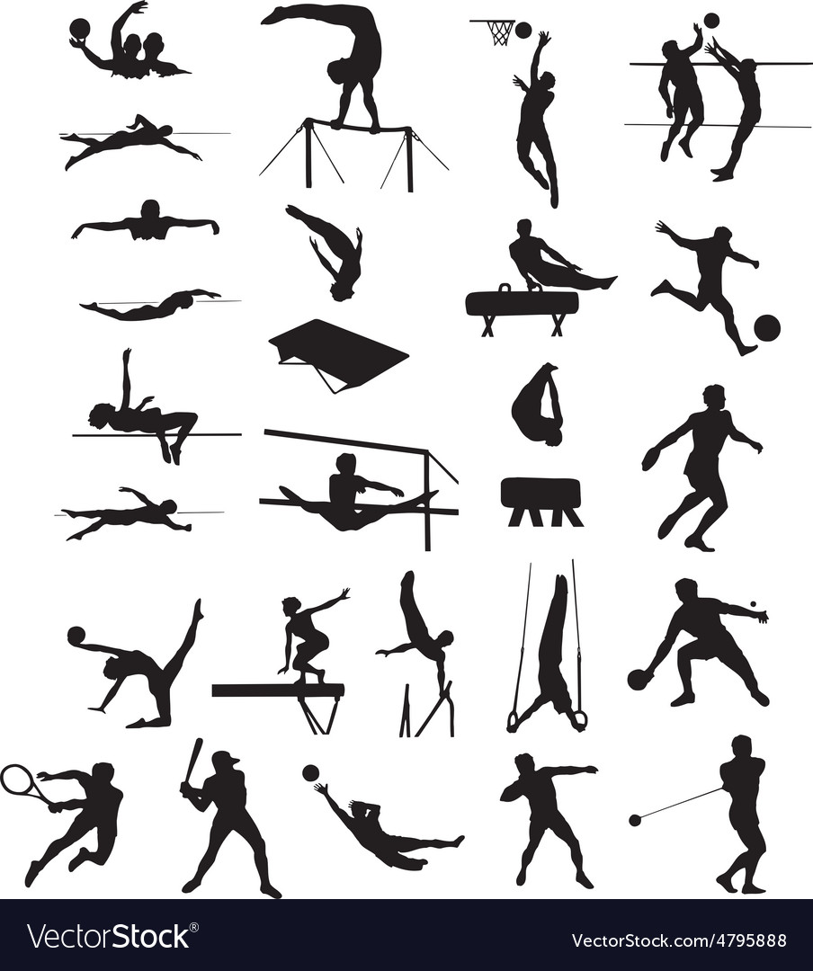Silhouettes sports vector