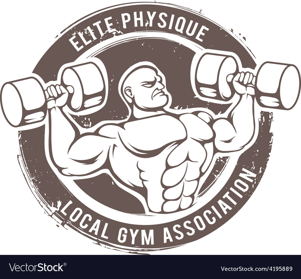 Gym man vector