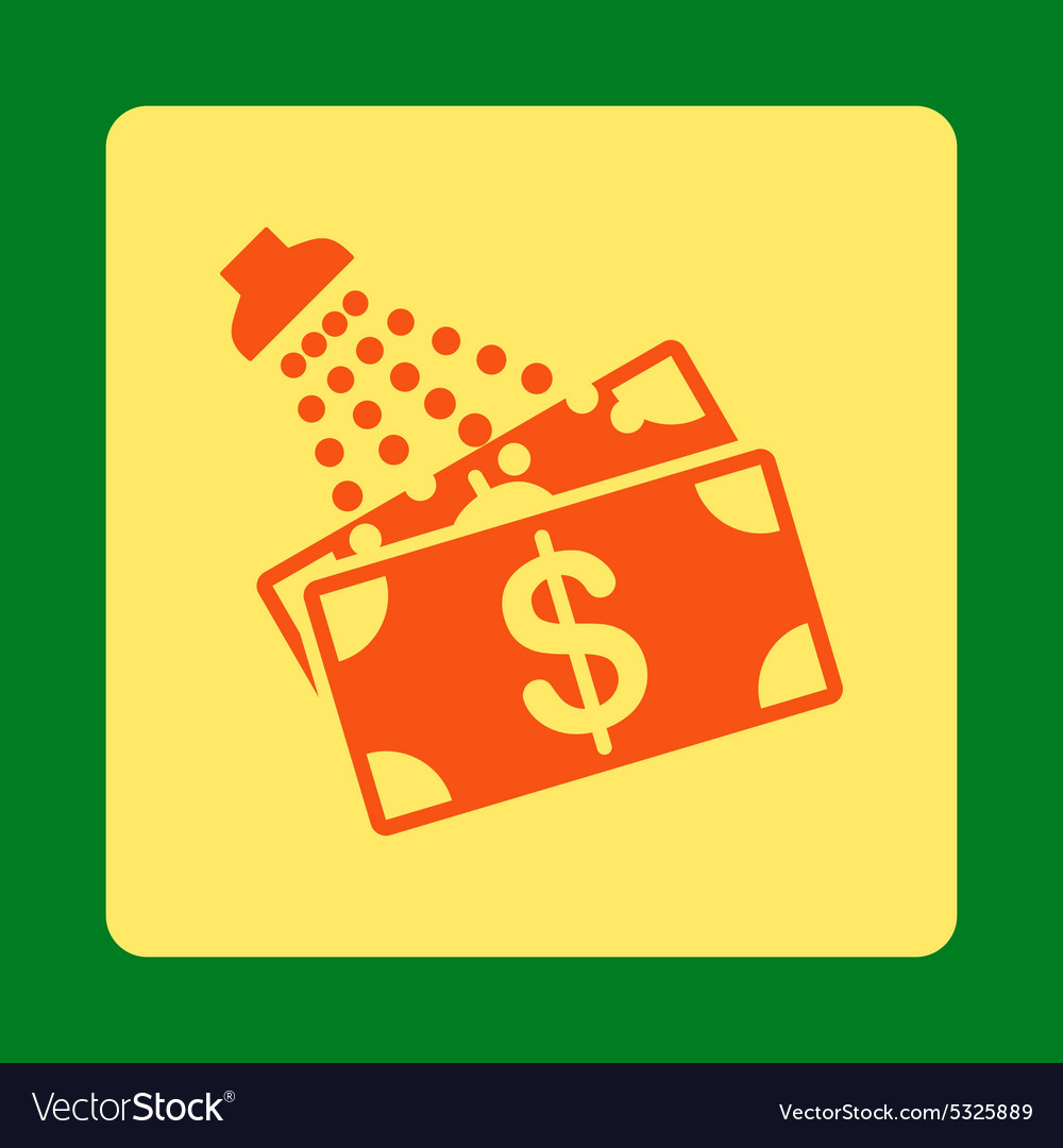 Money laundry icon from commerce buttons overcolor vector