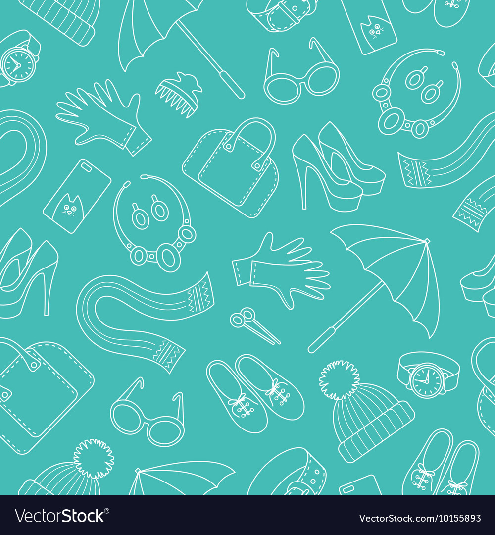 Seamless pattern with women s accessories vector