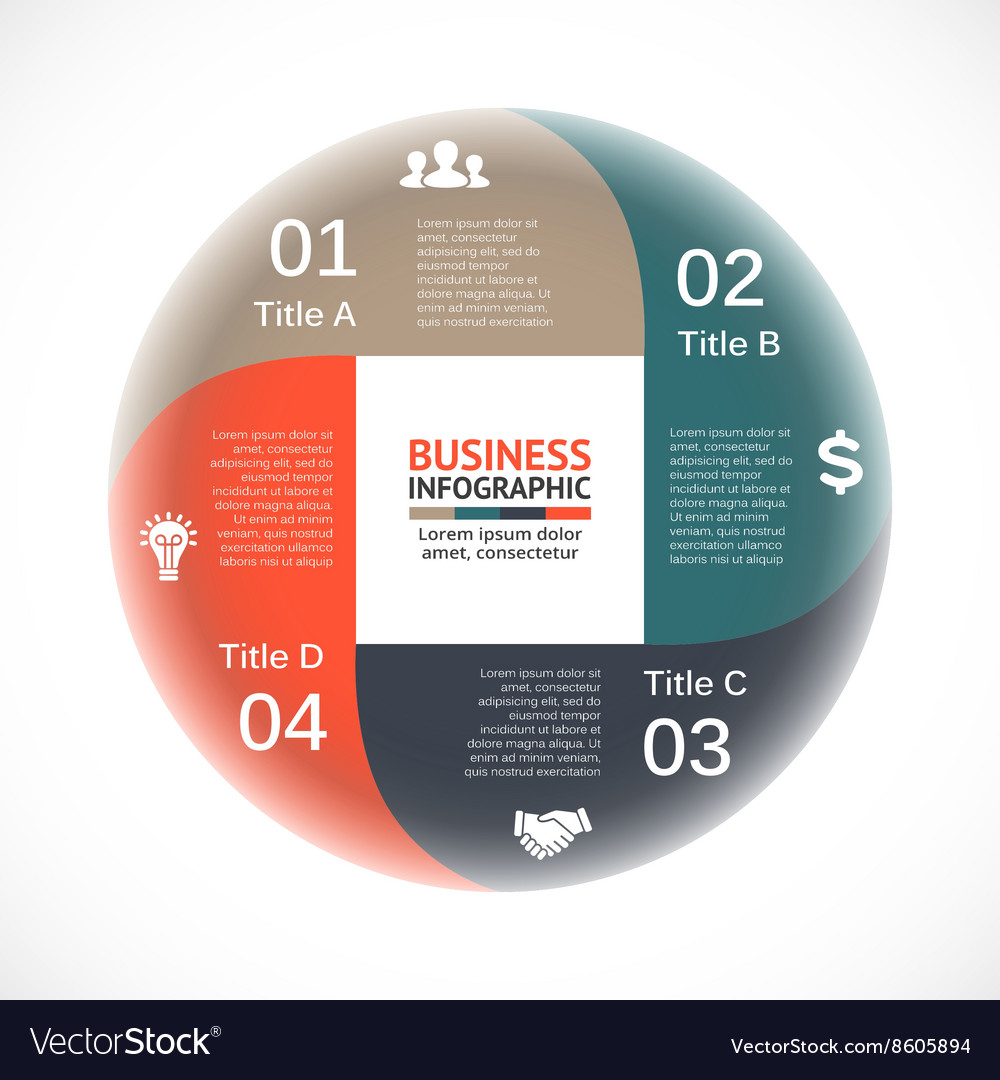 Circle arrows infographic diagram graph vector