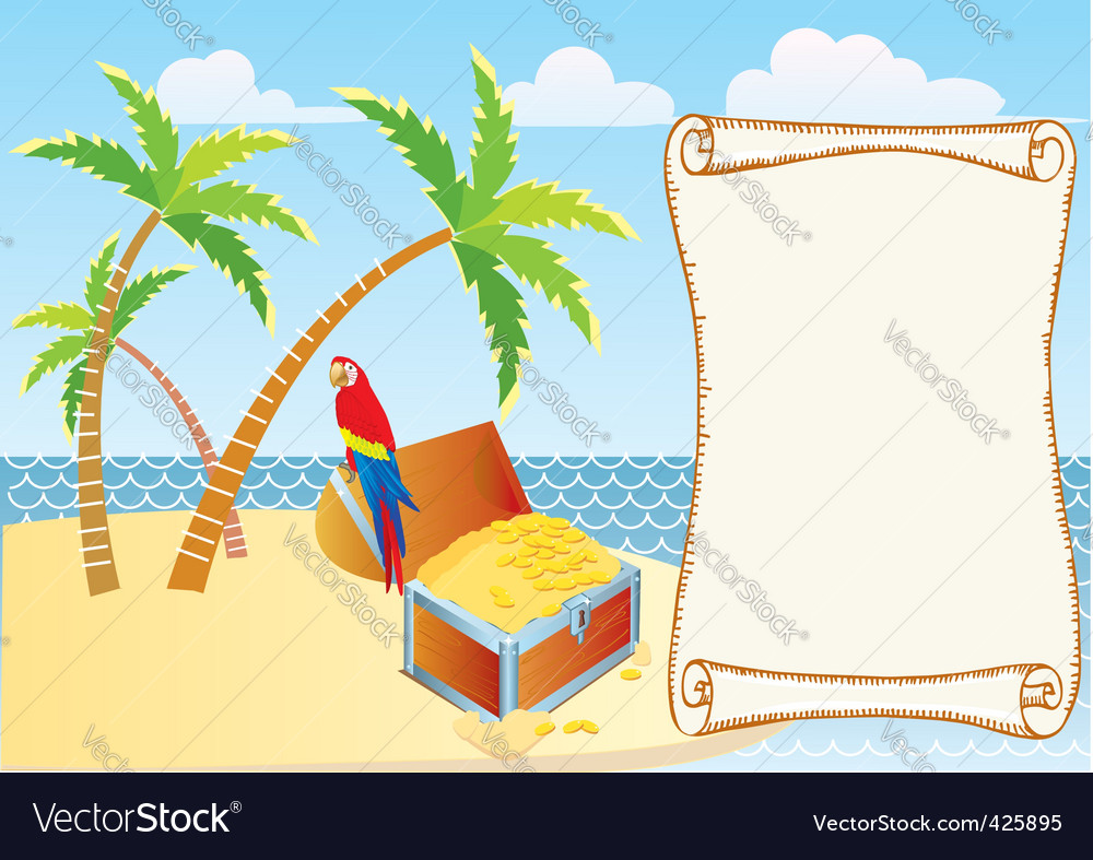 Treasure island background vector