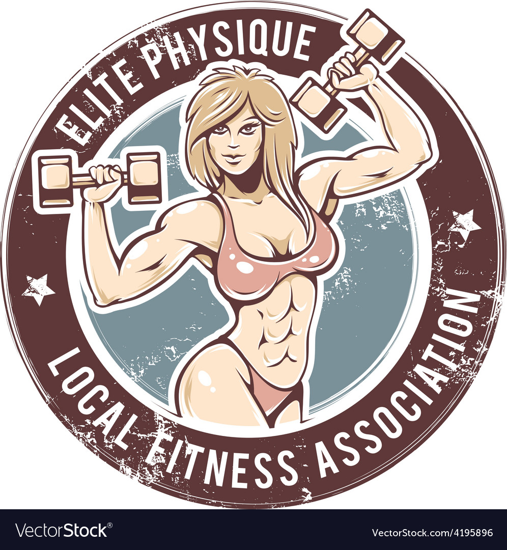 Gym lady vector