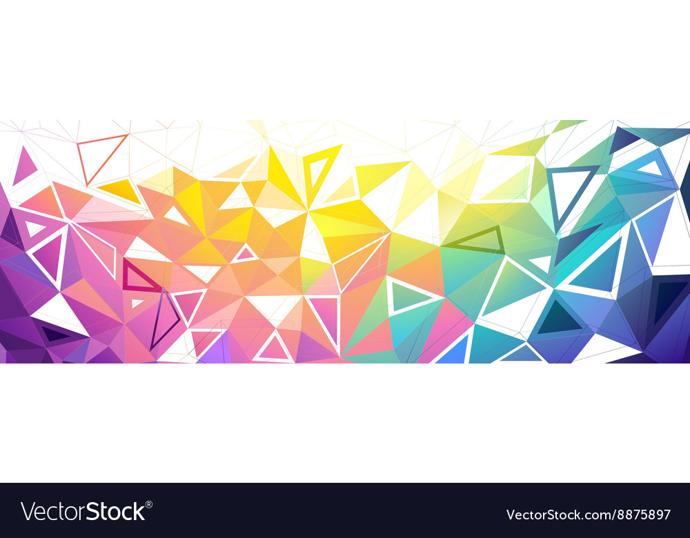 Colorful low poly background vector