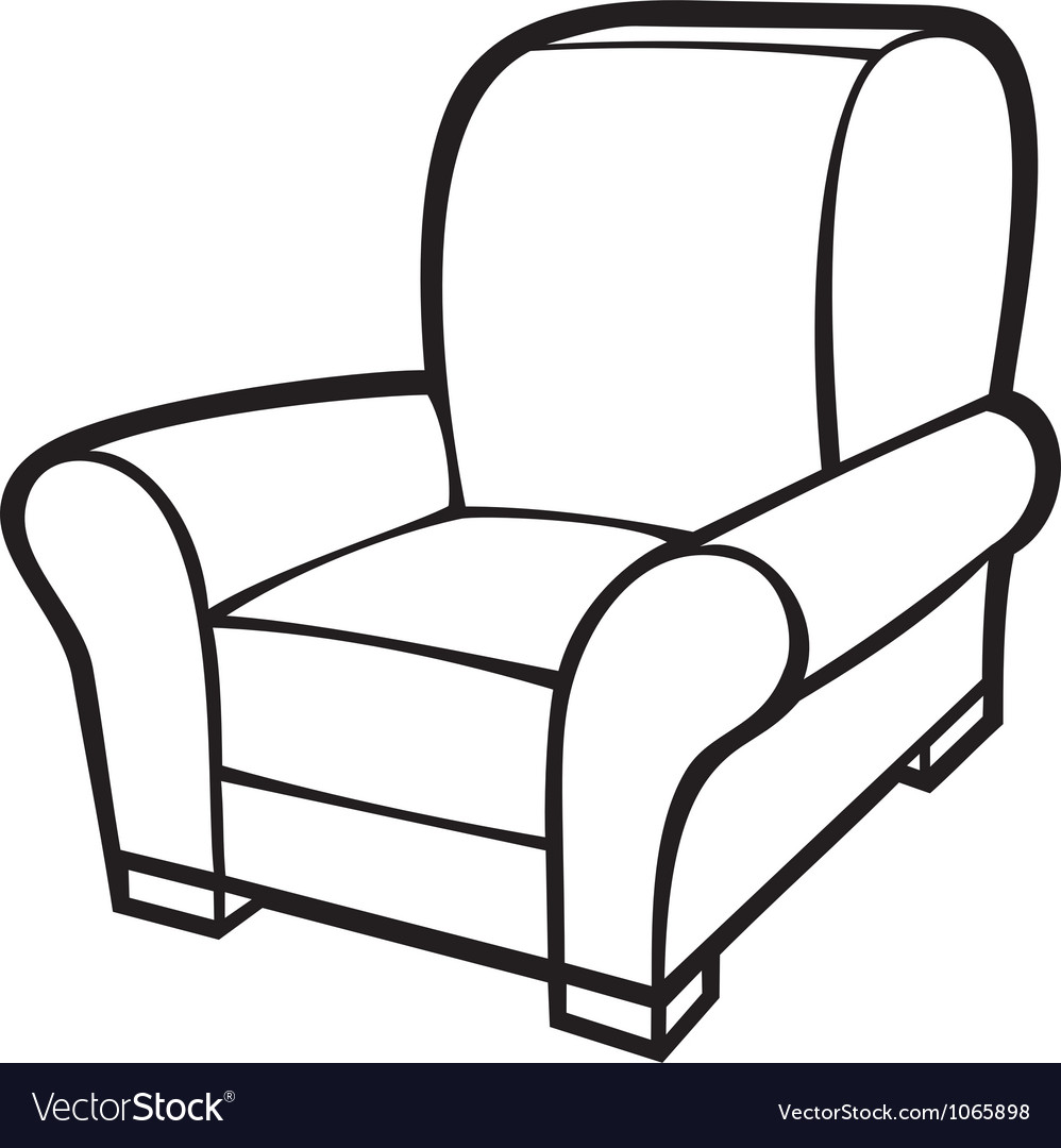 Armchair  leather tub chair vector