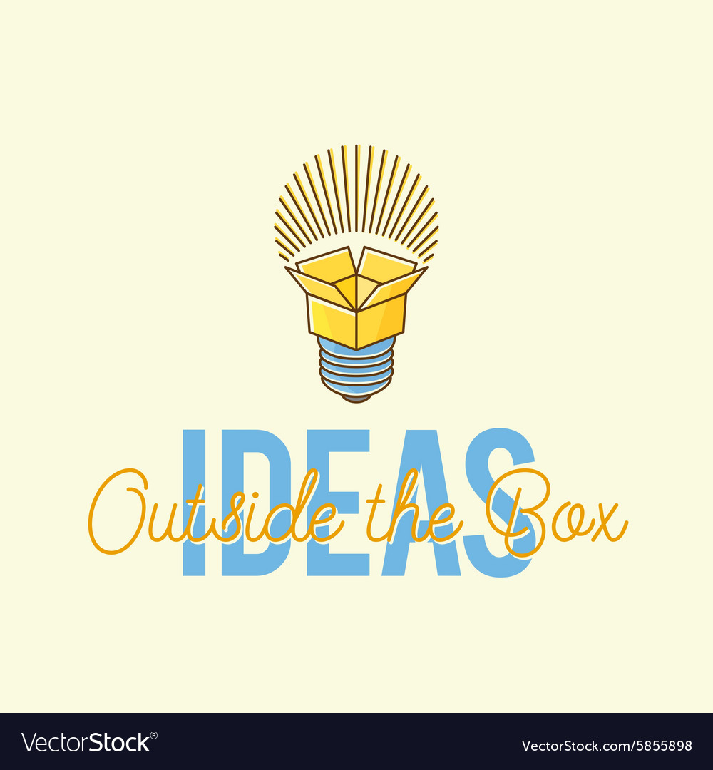 Ideas outside the box abstract concept logo vector