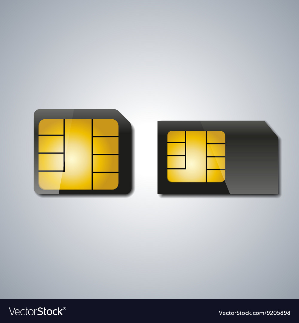 Set sim card vector