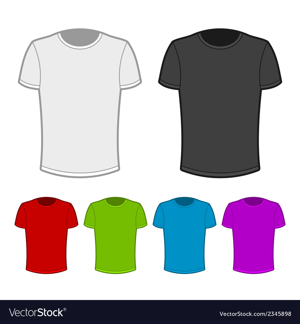 Tshirt in various colors  2 vector