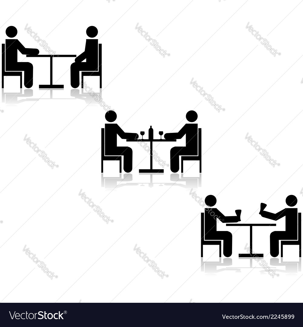 Table meetings vector