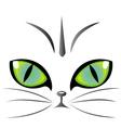 Cat eyes logo vector image vector image