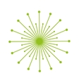 Dandelion seed decoration icon vector image