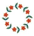 decorative floral frame vector image vector image