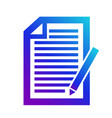icon note contenticon of the note a copyright vector image