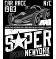 sports car te graphic design vector image