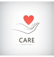 charity medical care help logo icon vector image