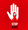 STOP AIDS Symb 03 vector image vector image