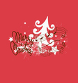 Merry Christmas song design vector image vector image