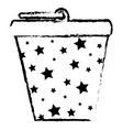bucket pot starry isolated icon vector image