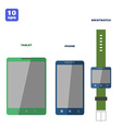 Flat PC tablet Smartphone and smartwatch vector image