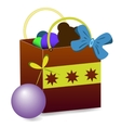 Gift bag with toys vector image