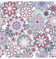 Seamless retro kaleidoscope flower background vector image