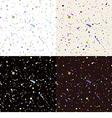 Set of seamless paint splatter pattern vector image